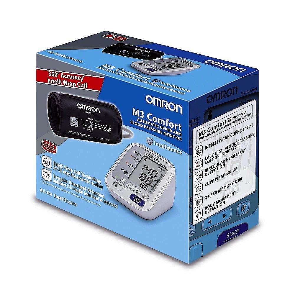 Tensiómetro de Brazo OMRON M3 Comfort con Manguito OMRON Intelli Wrap