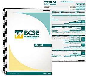 Portada del libro 8435085115097 BCSE. Test Breve para la Evaluación del Estado Cognitivo (Juego Completo)