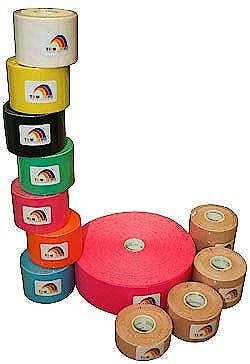 Temtex Tourmaline Kinesiology Tape Caja de 6 Rollos de 5 m. x 5 cm., Color Azul