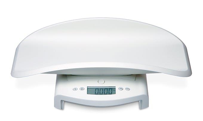 Pesabebés Electrónico Digital SECA Mod. 354, con Artesa Desmontable, Indicador LCD, Fuerza 20 kg., División 10 g., Alimentación a Pilas