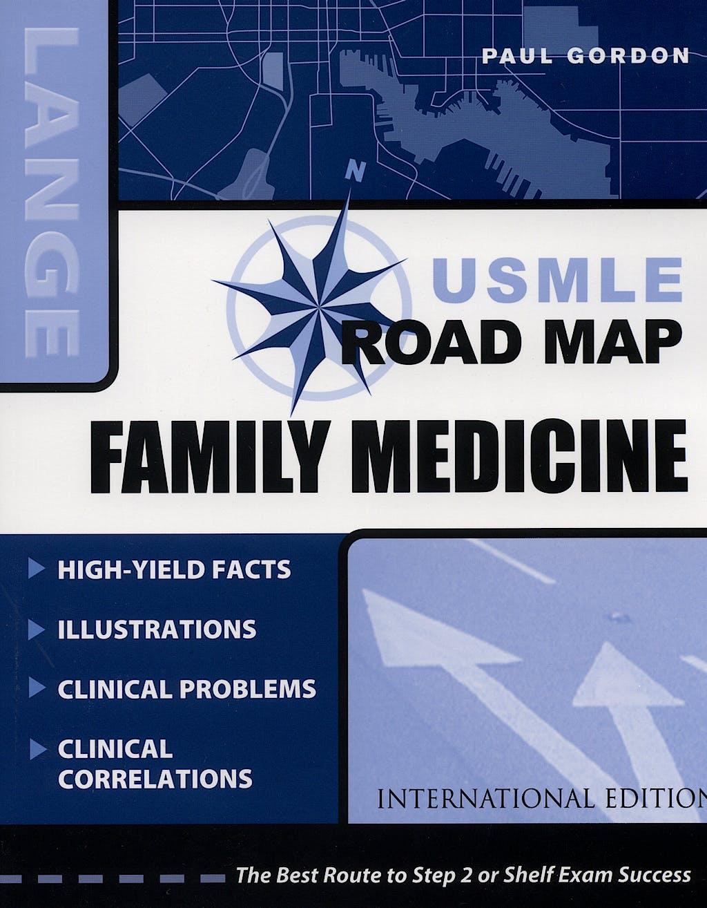 Portada del libro 9780071104883 Family Medicine Usmle Road Map. Lange