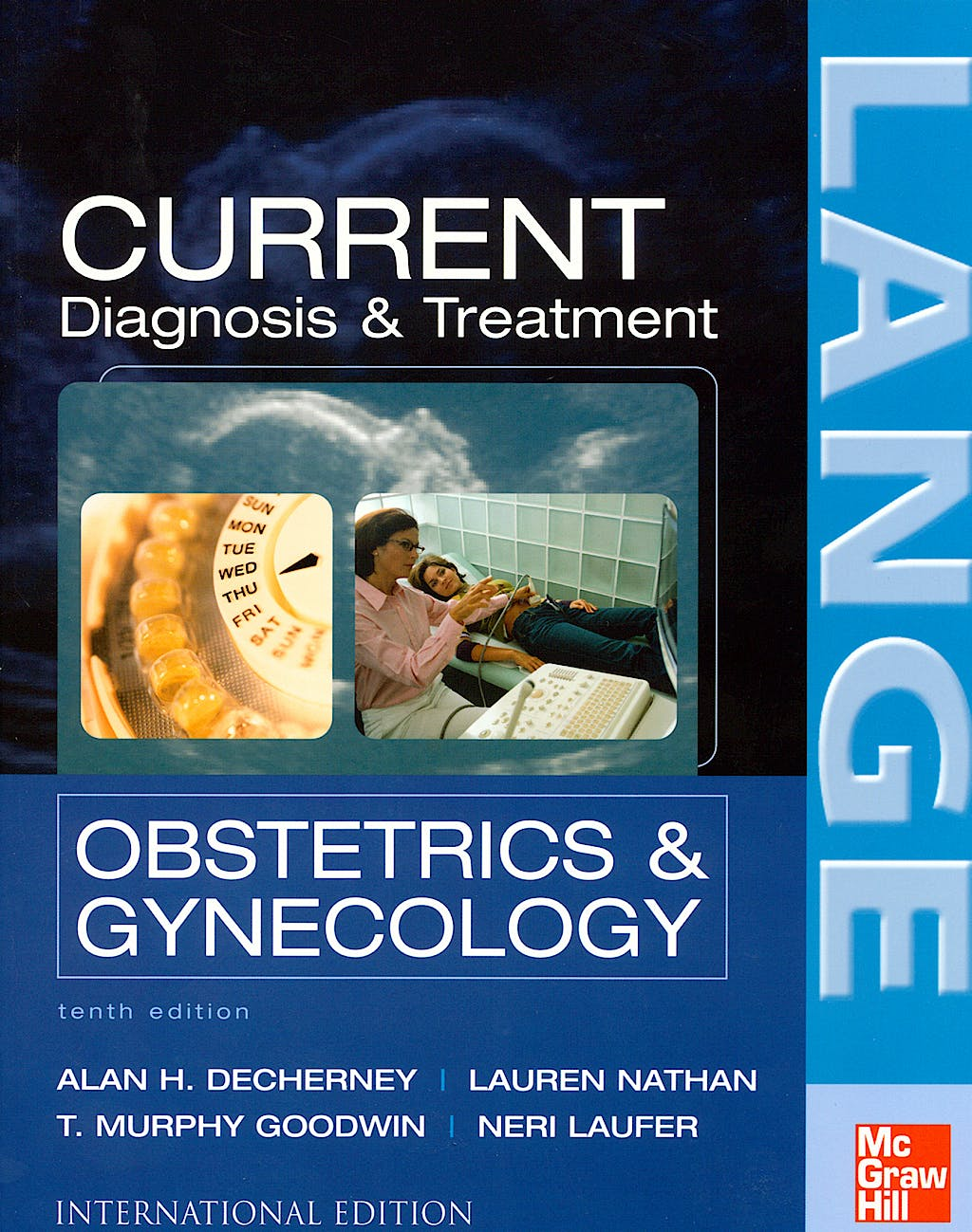 Portada del libro 9780071105095 Current Diagnosis and Treatment Obstetrics and Gynecology. Lange