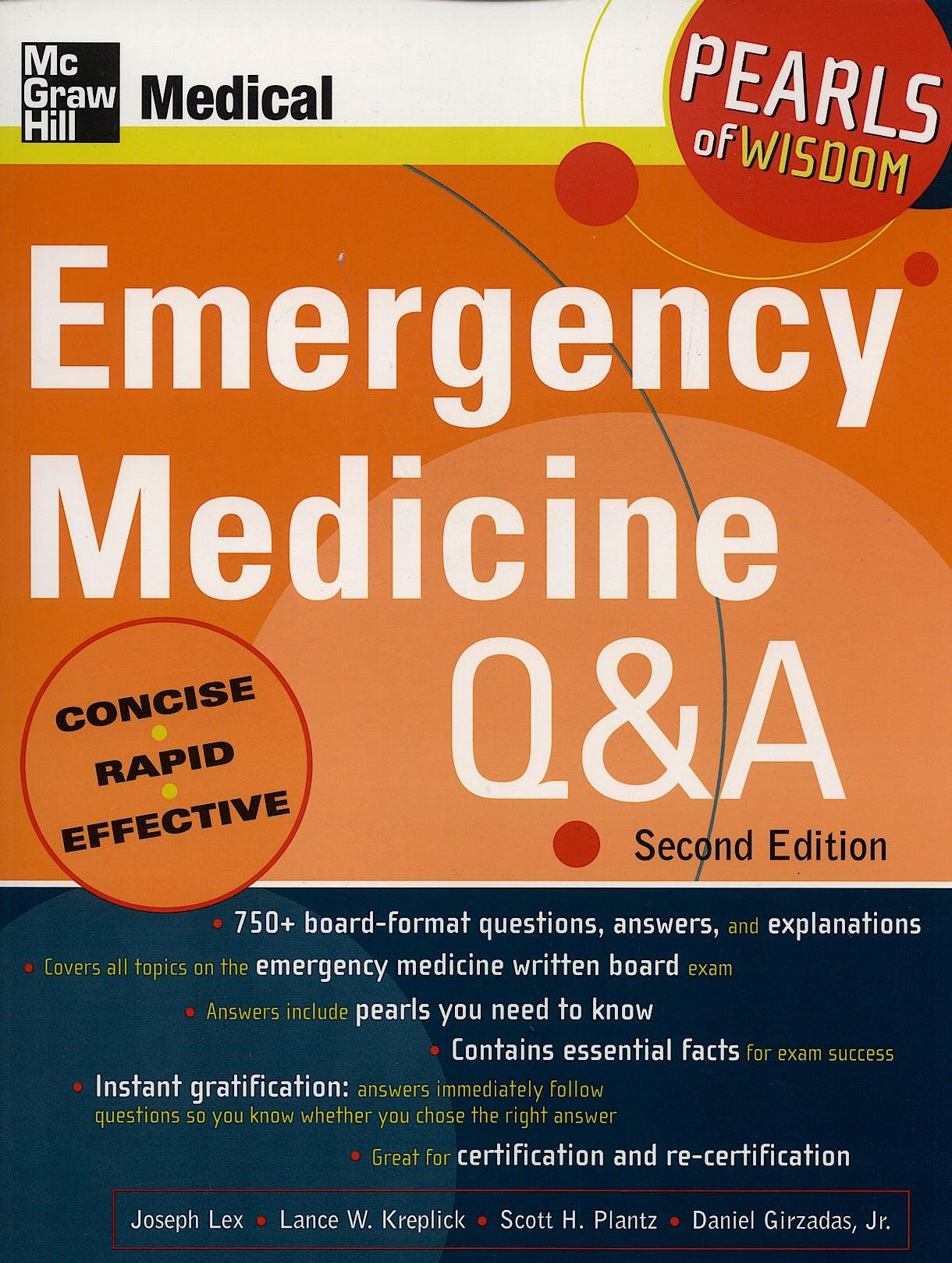 Portada del libro 9780071108621 Emergency Medicine Q & A