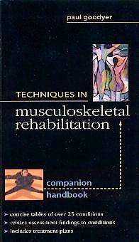 Portada del libro 9780071354974 Techniques in Musculoskeletal Rehabilitation. Companion Handbook