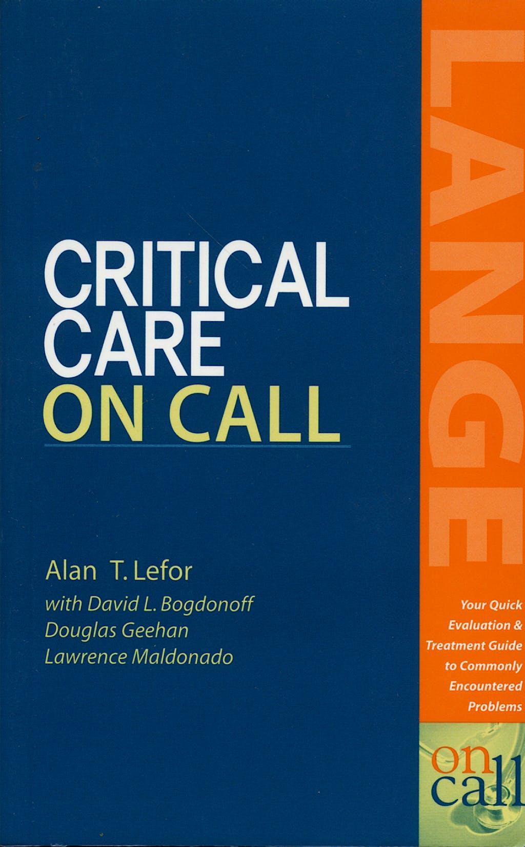 Portada del libro 9780071373456 Critical Care on Call