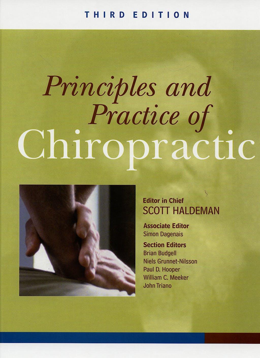 Portada del libro 9780071375344 Principles and Practices of Chiropractic