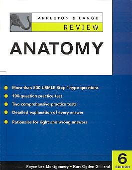 Portada del libro 9780071377270 Appleton & Lange Review of Anatomy