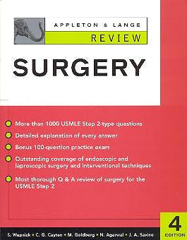 Portada del libro 9780071378147 Appleton & Lange Review. Surgery