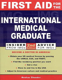 Portada del libro 9780071385329 First Aid for the International Medical Graduate