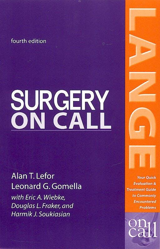 Portada del libro 9780071402545 Surgery on Call