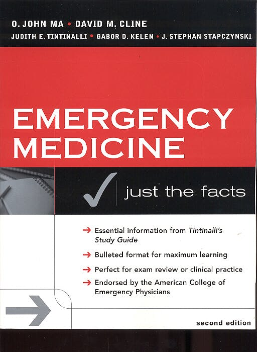 Portada del libro 9780071410243 Emergency Medicine. Just the Facts