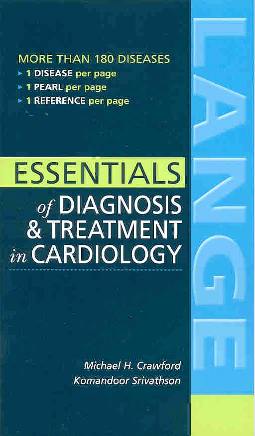 Portada del libro 9780071423212 Essentials of Diagnosis and Treatment in Cardiology