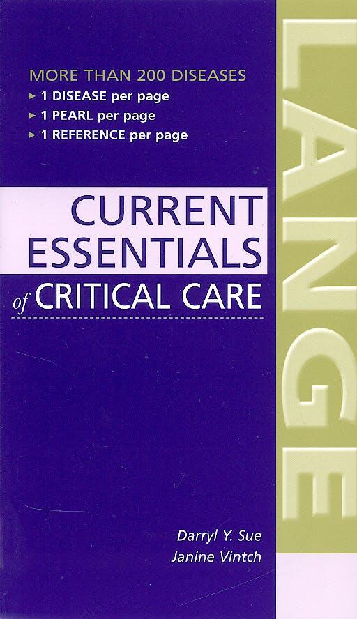 Portada del libro 9780071436564 Current Essentials of Critical Care