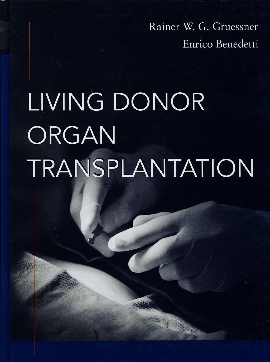 Portada del libro 9780071455497 Living Donor Organ Transplantation