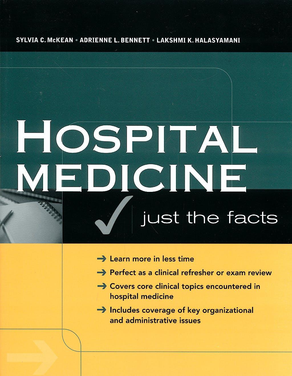 Portada del libro 9780071463959 Hospital Medicine. Just the Facts