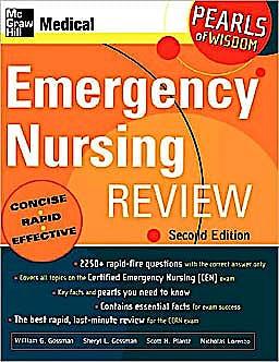 Portada del libro 9780071464253 Emergency Nursing Review. Pearls of Wisdom