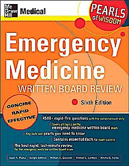 Portada del libro 9780071464284 Emergency Medicine Written Board Review (Pearls of Wisdom)