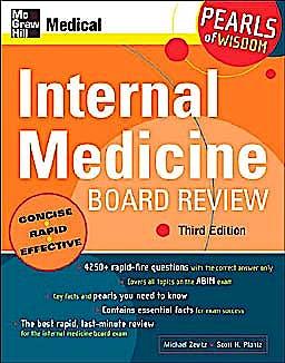 Portada del libro 9780071464321 Internal Medicine Board Review: Pearls of Wisdom