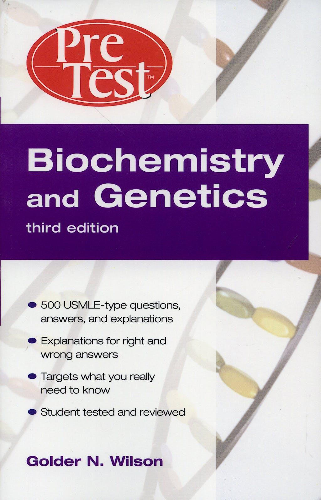 Portada del libro 9780071471831 Pretest Biochemistry and Genetics