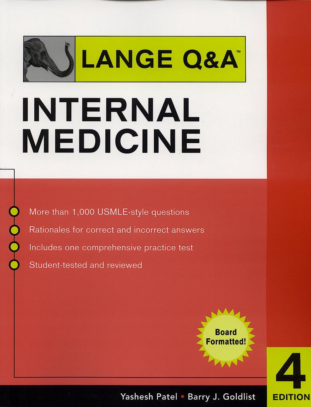 Portada del libro 9780071473644 Lange Q&a Internal Medicine