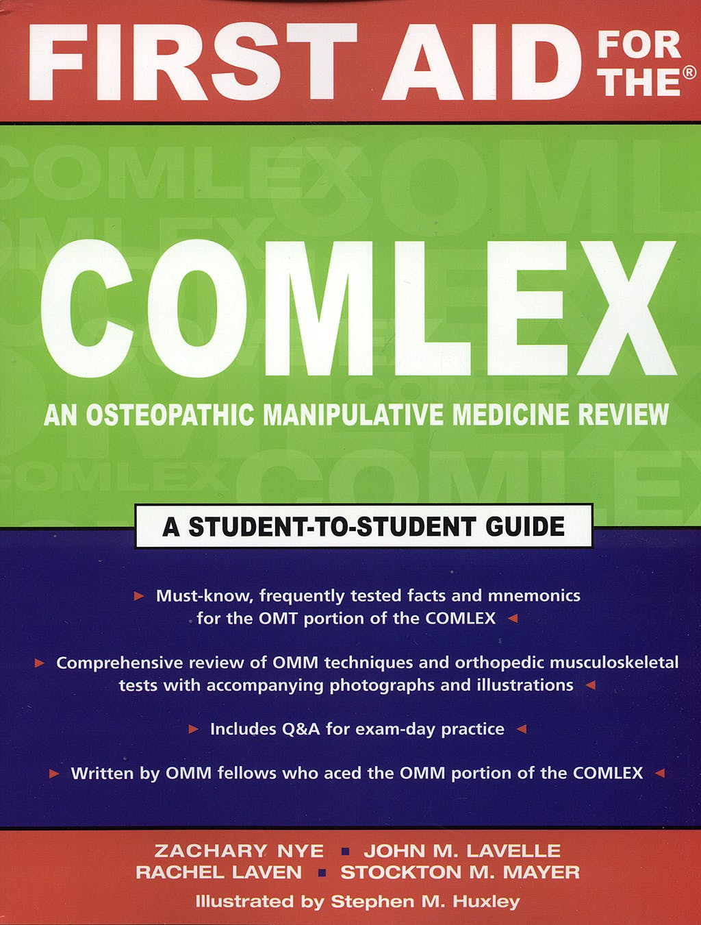 Portada del libro 9780071473910 First Aid for the Complex an Osteopathic Manipulative Medicine Review
