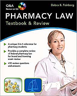 Portada del libro 9780071486354 Pharmacy Law. Textbook & Review + Q&a Review on Cd