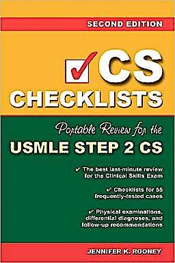 Portada del libro 9780071488235 Cs Checklists: Portable Review for the Usmle Step 2 Cs