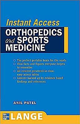 Portada del libro 9780071490092 Instant Access: Orthopedics and Sports Medicine. Lange Instant Access Orthopedics and Sports Medicine. Lange