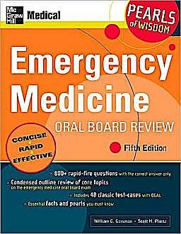 Portada del libro 9780071497404 Emergency Medicine Oral Board Review (Pearls of Wisdom)