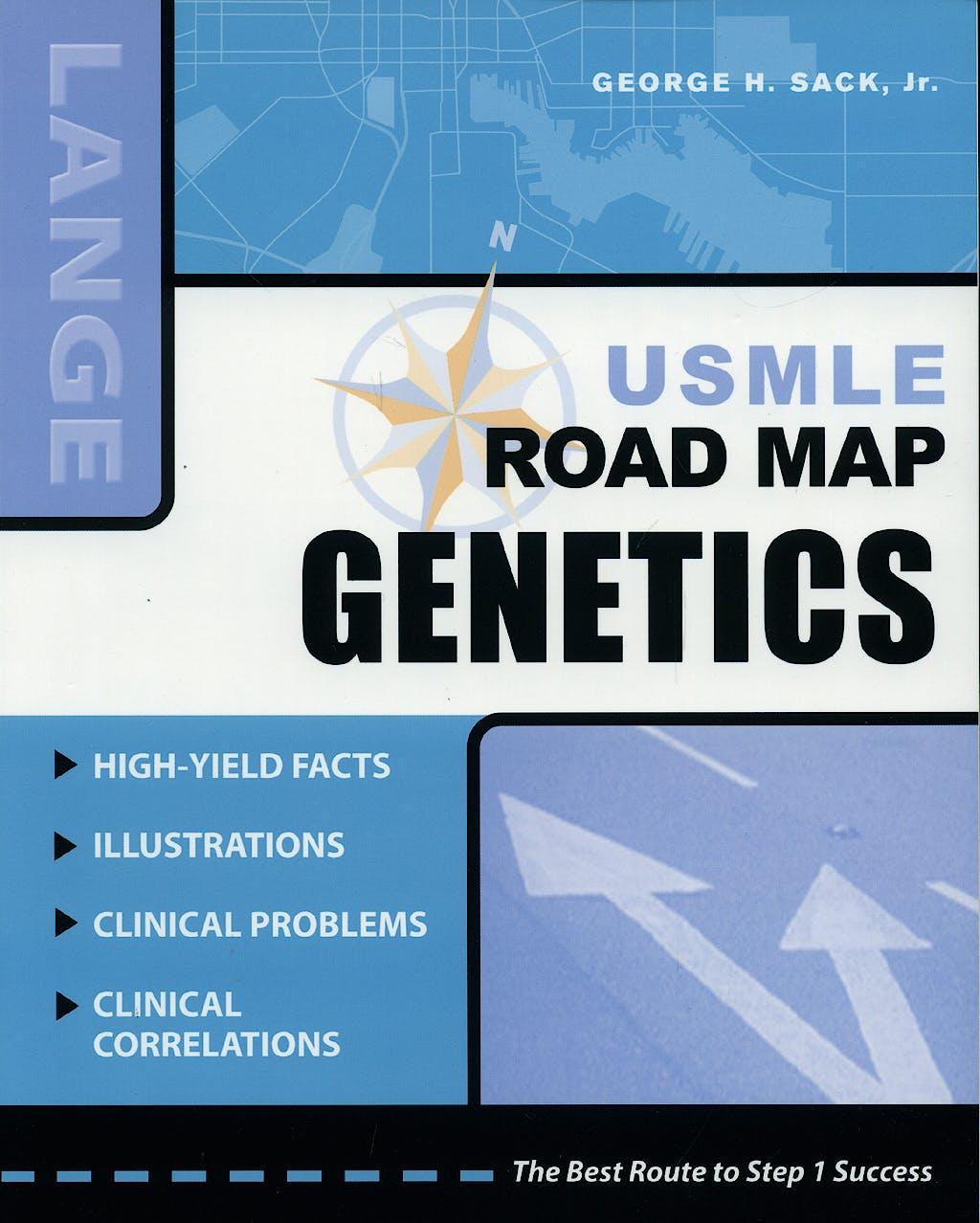 Portada del libro 9780071498203 Genetics Usmle Road Map. Lange