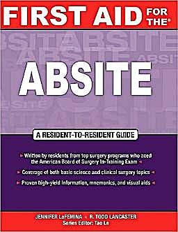 Portada del libro 9780071545471 First Aid for the Absite