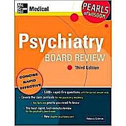 Portada del libro 9780071549714 Psychiatry Board Review. Pearls of Wisdom