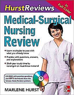 Portada del libro 9780071597524 Hurst Reviews: Medical-Surgical Nursing Review