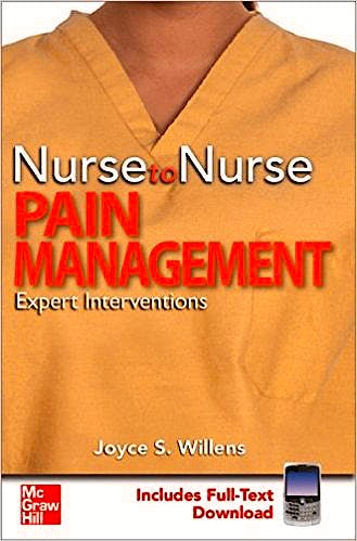 Portada del libro 9780071600088 Nurse to Nurse. Pain Management. Expert Interventions (Includes Full-Text Download)