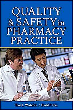 Portada del libro 9780071603850 Quality & Safety in Pharmacy Practice
