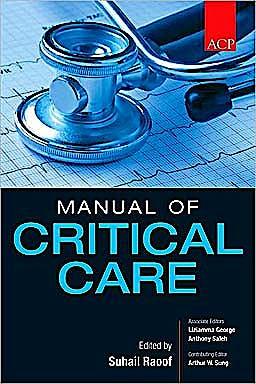 Portada del libro 9780071605656 ACP Manual of Critical Care