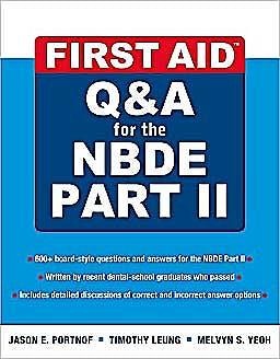 Portada del libro 9780071613729 First Aid Q&a for the Nbde Part II