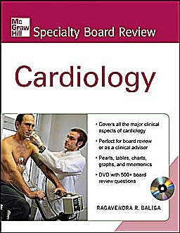 Portada del libro 9780071614085 Cardiology + Dvd (Mcgraw-Hill Specialty Board Review)