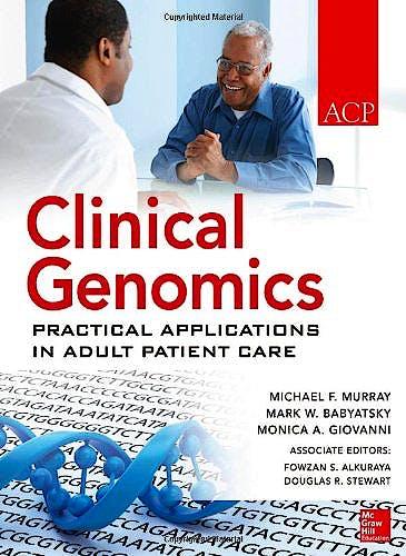 Portada del libro 9780071622448 Clinical Genomics: Practical Considerations for Adult Patient Care