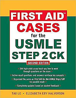 Portada del libro 9780071625708 First Aid Cases for the Usmle Step 2 Ck