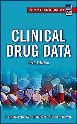 Portada del libro 9780071626880 Clinical Drug Data (Includes Full-Text Download)