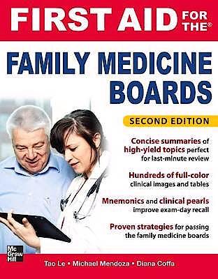 Portada del libro 9780071737265 First Aid for the Family Medicine Boards