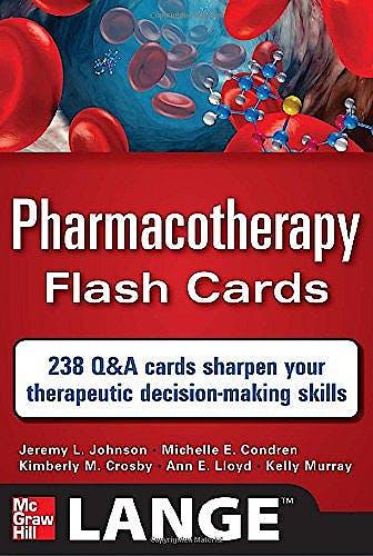 Portada del libro 9780071741156 Pharmacotherapy Flash Cards