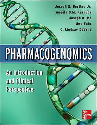 Portada del libro 9780071741699 Pharmacogenomics. an Introduction and Clinical Perspective