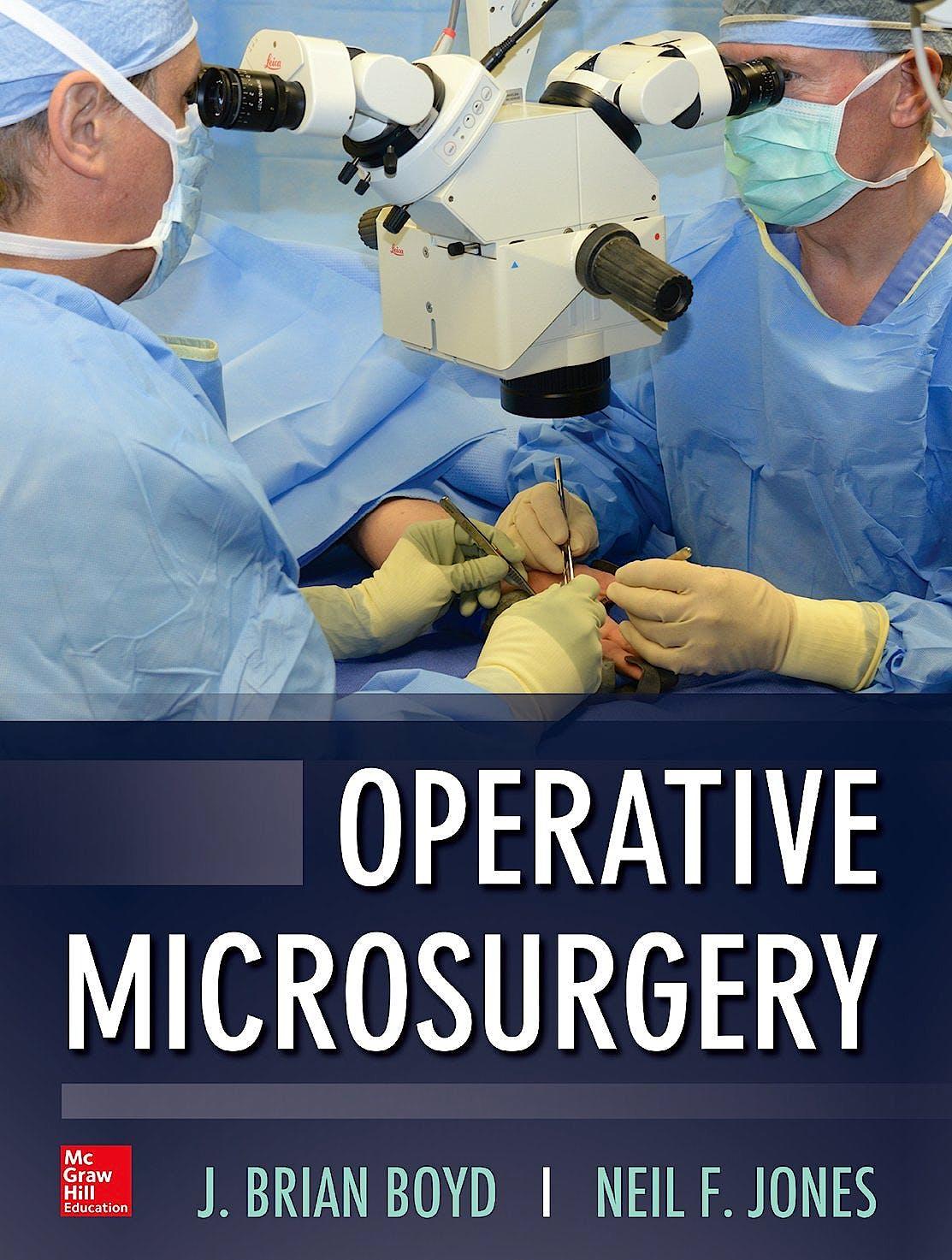 Portada del libro 9780071745581 Operative Microsurgery