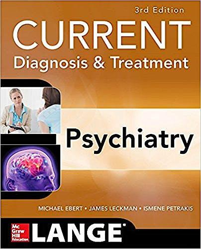 Portada del libro 9780071754422 Current Diagnosis and Treatment Psychiatry. Lange