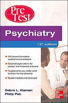 Portada del libro 9780071761017 Pretest Psychiatry