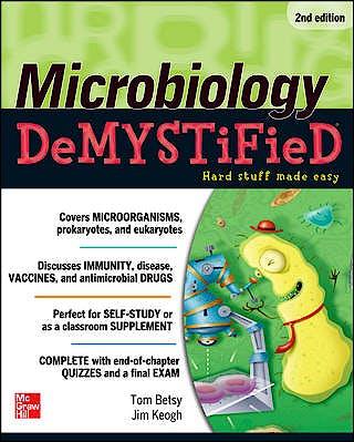 Portada del libro 9780071761093 Microbiology Demystified