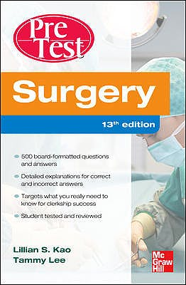 Portada del libro 9780071761215 Pretest Surgery