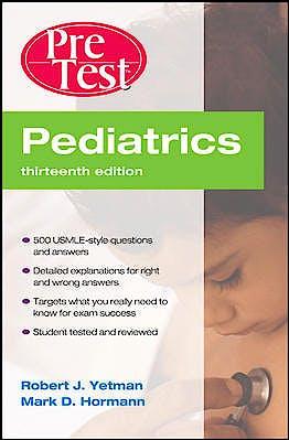 Portada del libro 9780071761239 Pretest Pediatrics